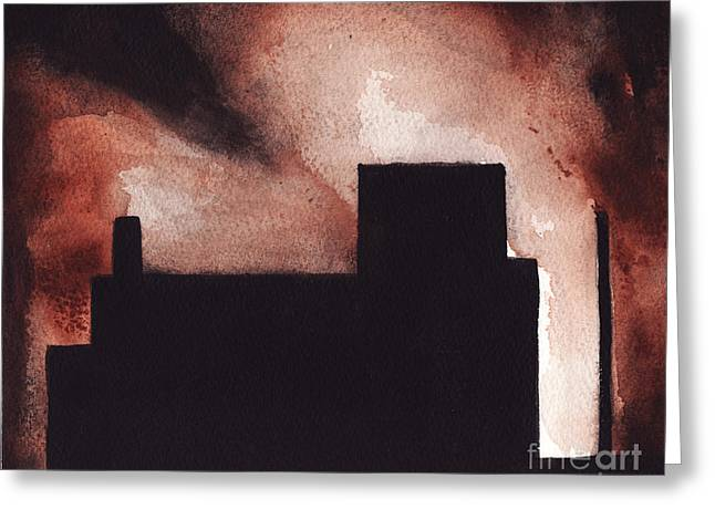 Red Hook Greeting Card by Ron Erickson