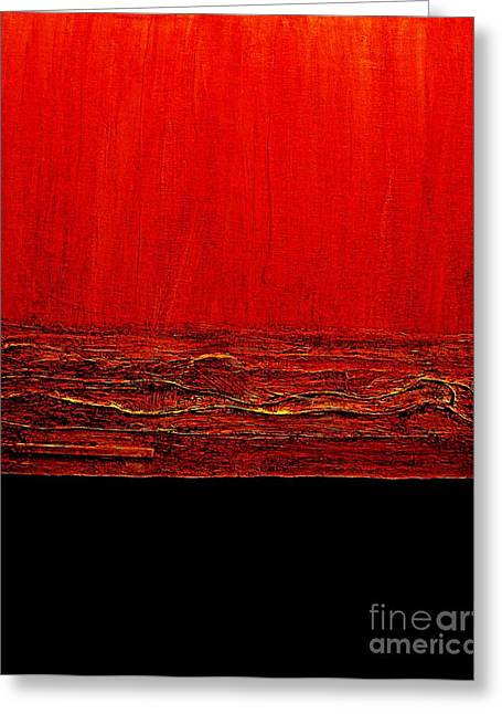 Red Hot Abstract Greeting Card