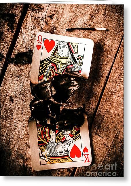 Red Hot Blackjack Greeting Card