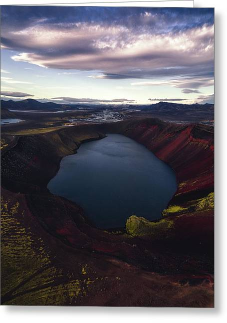 Red Hot Crater Greeting Card