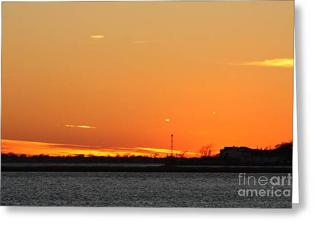 Red Hot Fall Night Time Sky Greeting Card by John Telfer