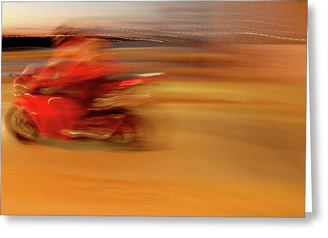 Superbikes Greeting Cards - Red Hot Greeting Card by Glennis Siverson