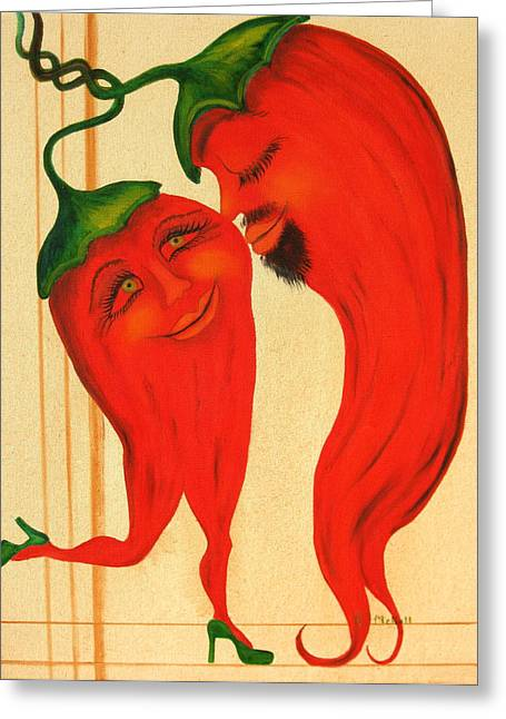 Red Hot Lovers Greeting Card by RJ McNall