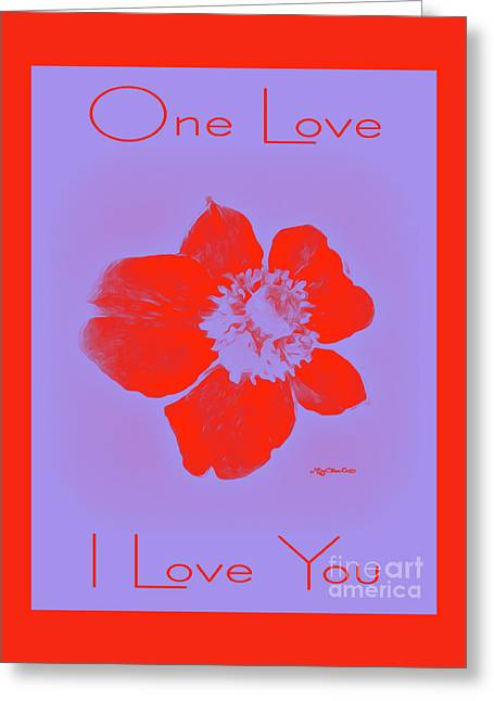Red Hot Passion Flower Greeting Card by Art by MyChicC