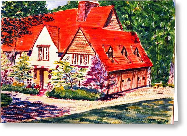 Red House In Clayton Greeting Card by Horacio Prada