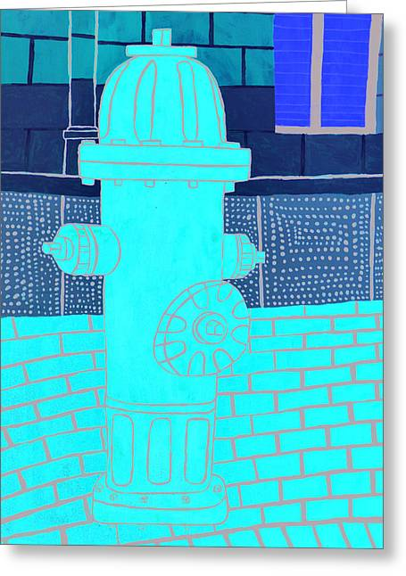 Red Hydrant Greeting Card by Sean Cusack