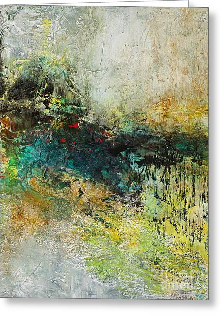 Red In The Landscape Greeting Card by Frances Marino
