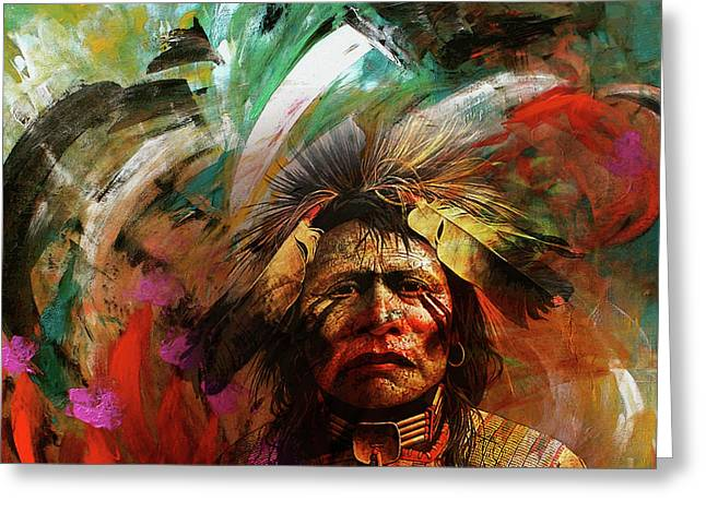 Red Indians 02 Greeting Card