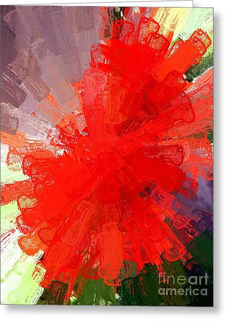 Greeting Card featuring the photograph Red Lace by Carol Grimes