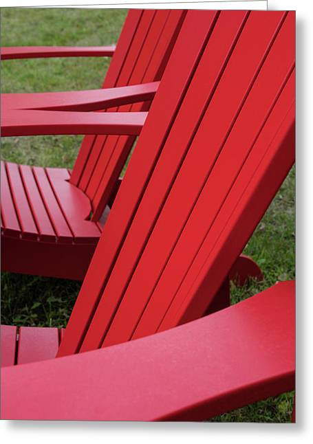 Red Lawn Chair Greeting Card