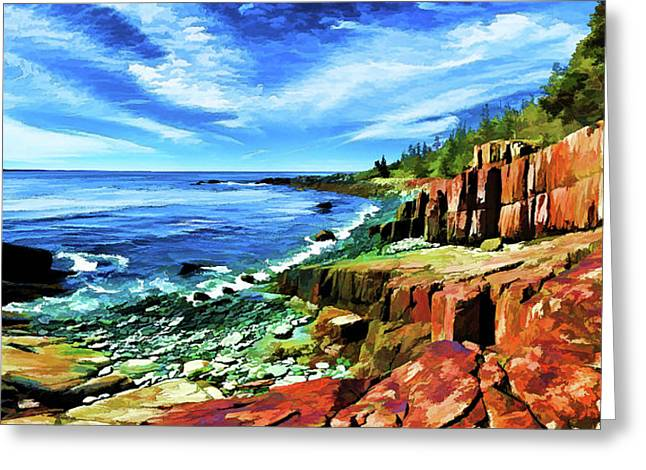Red Ledge At Quoddy Head Greeting Card