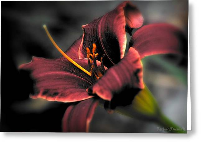 Greeting Card featuring the photograph Red Lilly2 by Michaela Preston