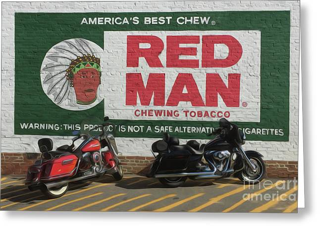 Red Man Chewing Tobacco Greeting Card