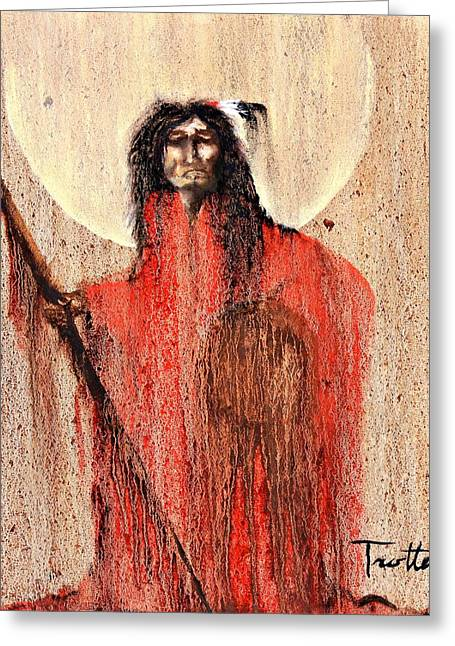 Red Man Greeting Card by Patrick Trotter