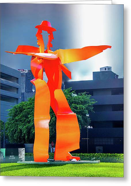 Red Metal Sculpture Greeting Card by Art Spectrum