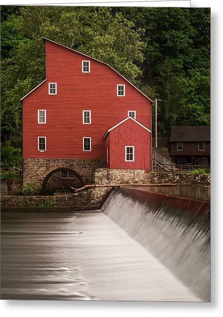 Red Mill Clinton New Jersey Greeting Card