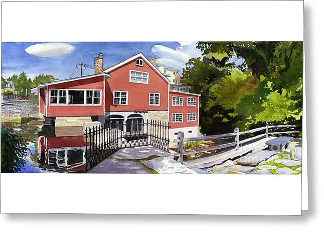 Red Mill Manchester Vt Greeting Card by Hollis Machala