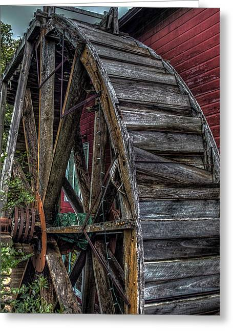 Red Mill Wheel 2007 Greeting Card by Trey Foerster