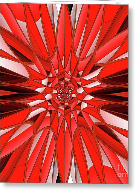 Red Mineral Greeting Card