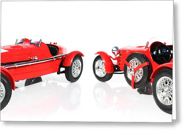 Red Model Car Greeting Card by Jorgo Photography - Wall Art Gallery