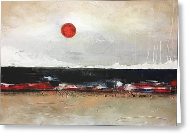 Red Moon Greeting Card by Germaine Fine Art