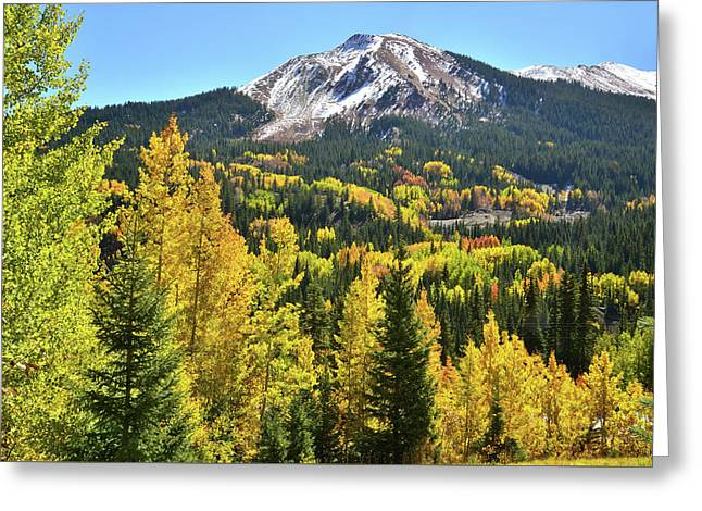 Greeting Card featuring the photograph Red Mountain Fall Color by Ray Mathis