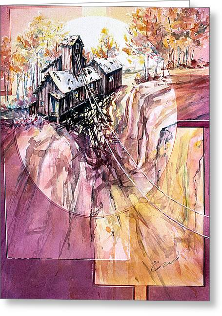 Red Mountain Mine Greeting Card