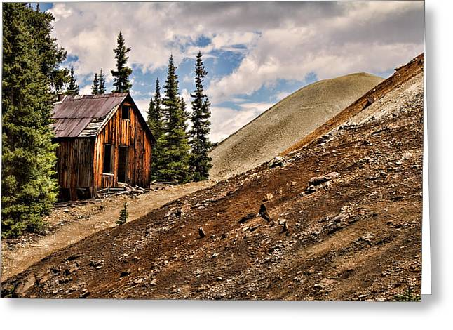 Red Mountain Mining Shack Greeting Card by Lana Trussell