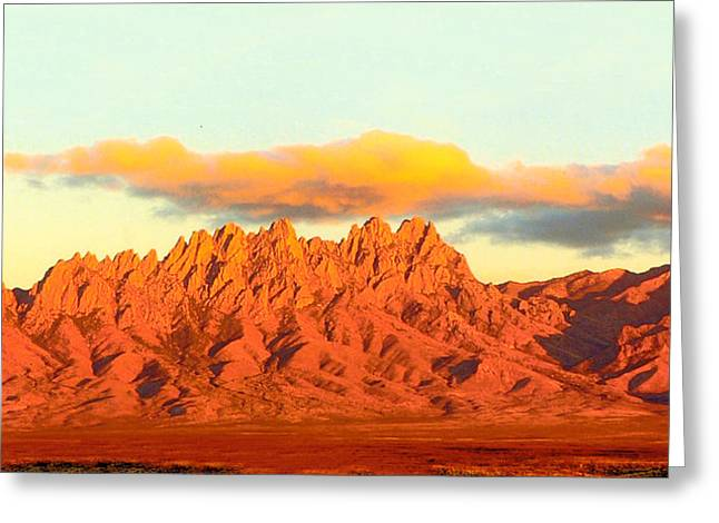 Most Greeting Cards - Red Mountain Sunset Organs Greeting Card by Jack Pumphrey