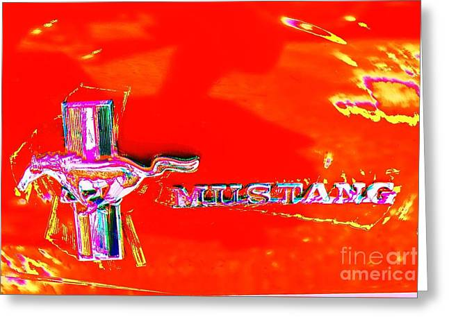 Red Mustang Mod Greeting Card