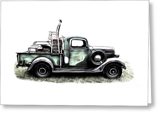 Red Neck Moving Day Greeting Card by Edward Fielding