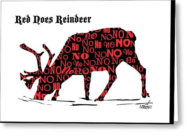 Red Noes Reindeer Greeting Card