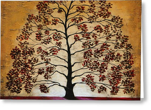Red Oak Greeting Card