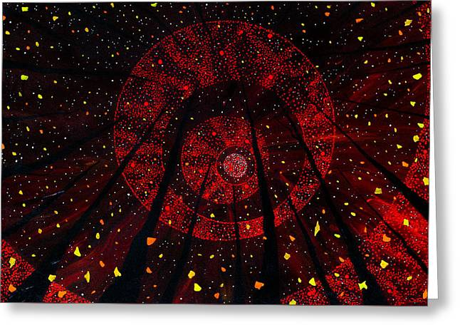 Greeting Card featuring the painting Red October by Joel Tesch