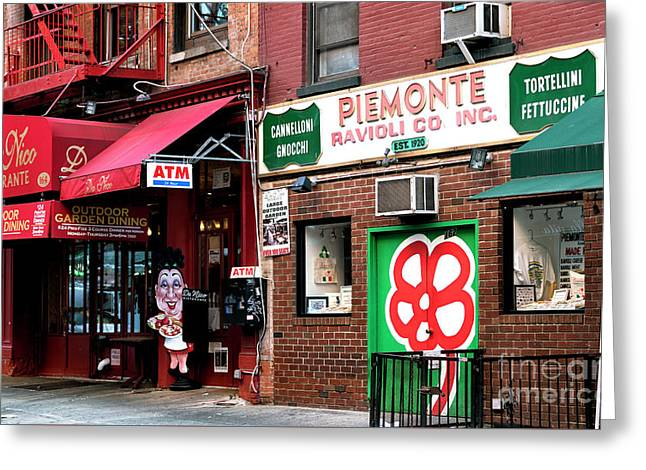 Greeting Card featuring the photograph Red On Mulberry Street by John Rizzuto