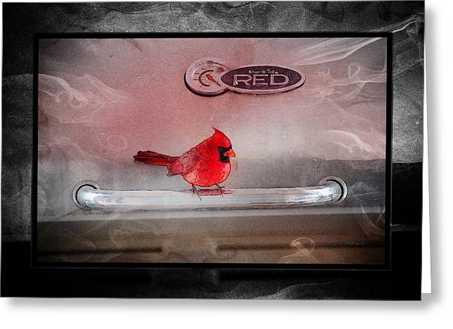 Red On Red Greeting Card by Ericamaxine Price