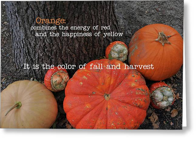 Red Orange Quote Greeting Card by JAMART Photography