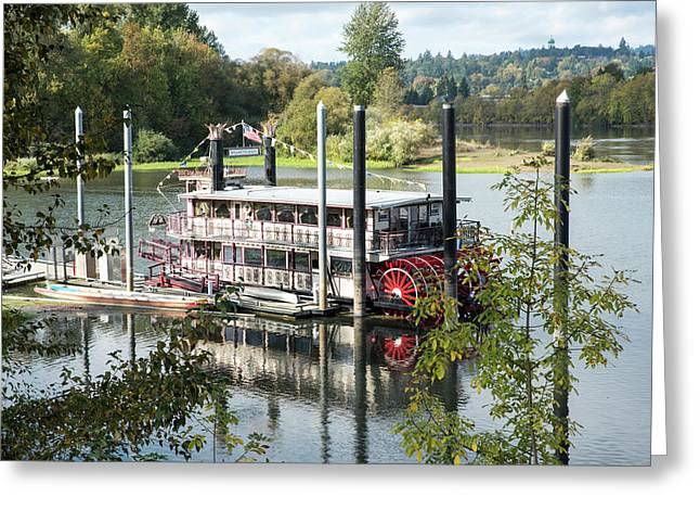 Red Paddle Wheel Greeting Card