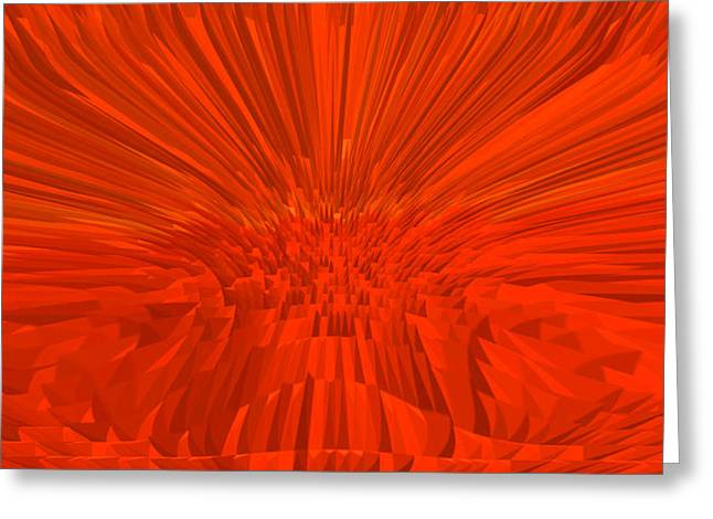Basis-chakra Greeting Cards - Red-Palace Greeting Card by Ramon Labusch
