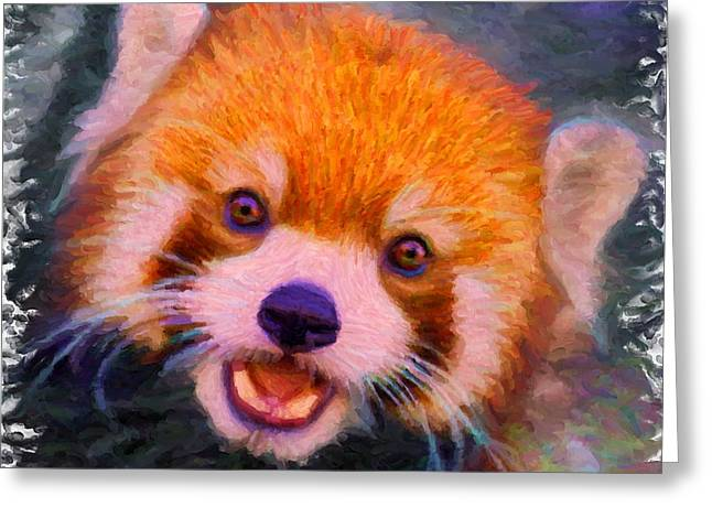 Red Panda Cub Greeting Card