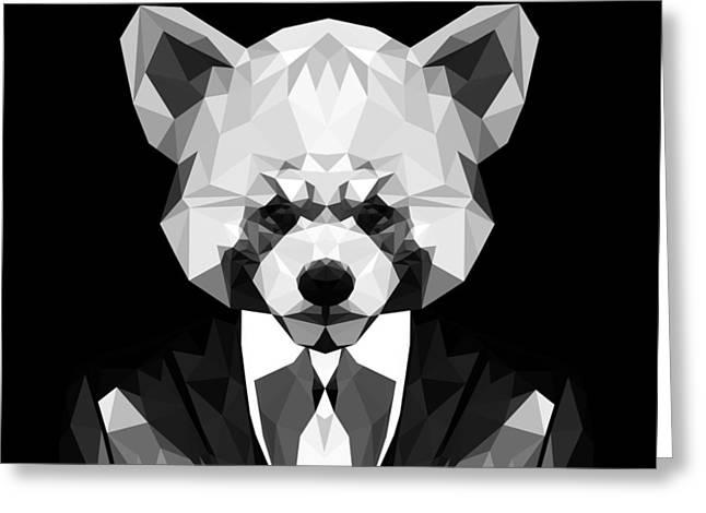 Red Panda Greeting Card by Gallini Design