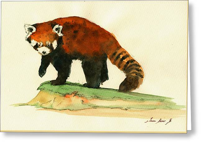 Red Panda Walk Greeting Card