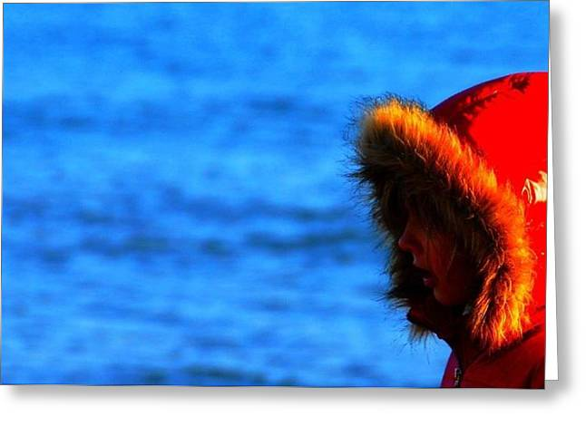 Red Parka Greeting Card by Votus