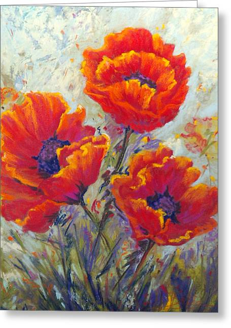 Red Passion Greeting Card by Bente Hansen