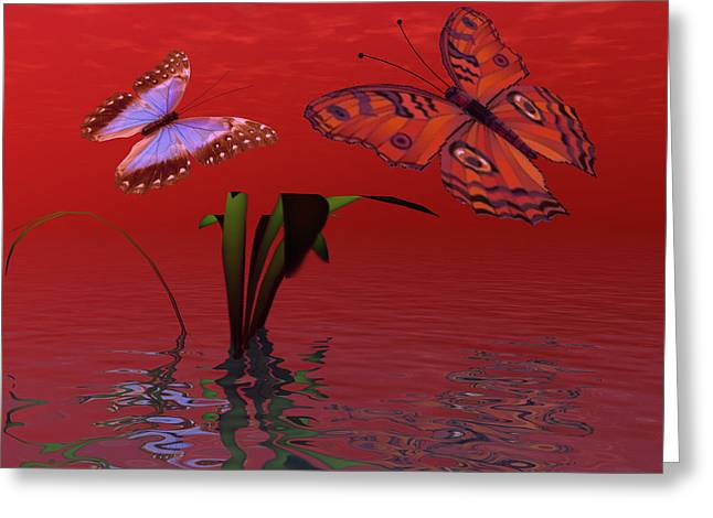 Red Passion Greeting Card by Corey Ford