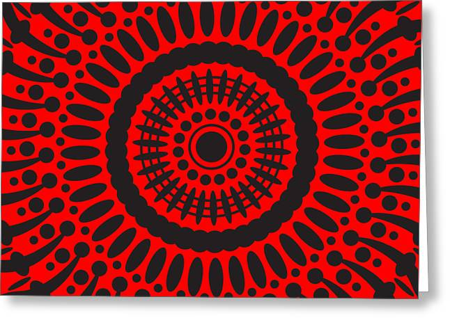 Greeting Card featuring the digital art Red Passion by Lucia Sirna