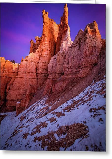 Red Peaks Greeting Card