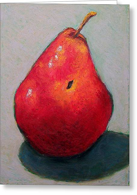 Red Pear Greeting Card by Joyce Geleynse