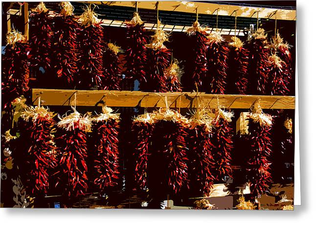 Red Peppers Greeting Card by David Lee Thompson