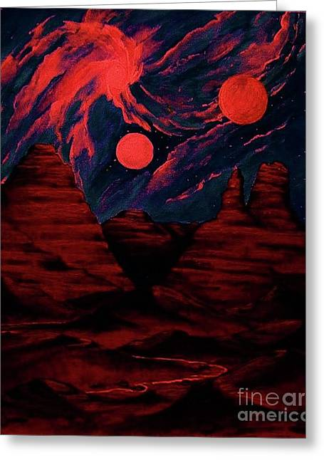 Red  Planet Greeting Card by Diana Dearen